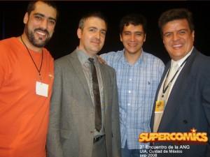 Aqui con Matt Madden, El Sope y Jose Angel Soto (organizador de la ANG)