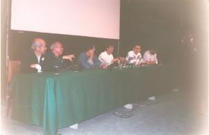 Angel Mora, Sixto valencia, Zenaido Velazquez El caricaturista ramón, Humberto ramos en una de las conferencias. (extrañas combinaciones las de aquellos años)
