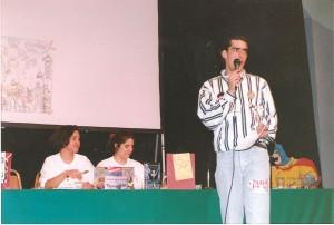 Gaby Maya y Adalisa Zarate en una subasta de originales en la primera CONQUE