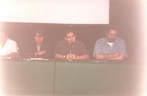 Paco Baca, Humberto y Bachan ( en esos momentos no sabía que de alguna forma estuvo involucrado en el inicio de la Conque, y menos nos imaginabamos todo lo que pasaría después)