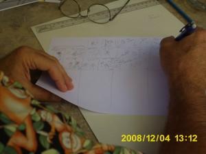 Aragonés diagramando su historia