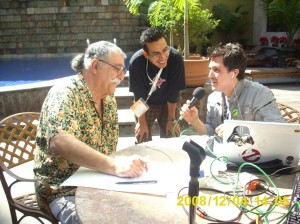 Sergio se dio tiempo hasta para dar entrevistas