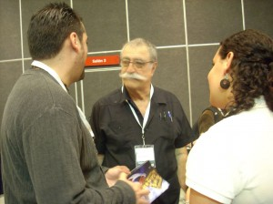 Sergio contando sus anécdotas y dandonos consejos