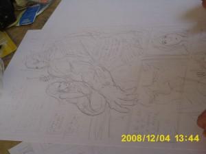 Axel y su peculiar estilo para dibujar