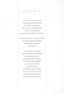 Este es el artículo 21 de los derechos del hombre que ilustró Bachan