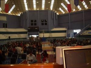 Antes de la conferencia (fotos desde el podium)